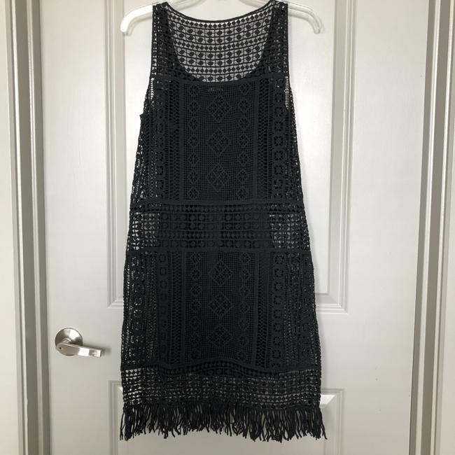 Lauren Ralph Lauren short dress Black Crochet Fringe Boho Fringed on Tradesy