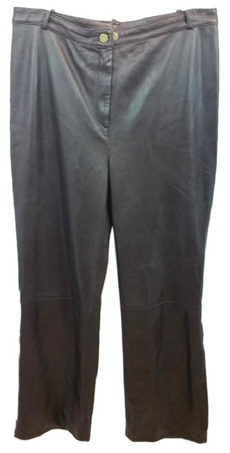 Preload https://img-static.tradesy.com/item/23243715/st-john-dark-brown-couture-by-marie-gray-leather-straight-leg-pants-size-14-l-34-0-0-650-650.jpg