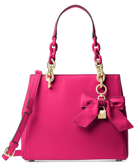 MICHAEL Michael Kors Cynthia Small North/South Supple Polished Ltr Satchel in Ultra pink