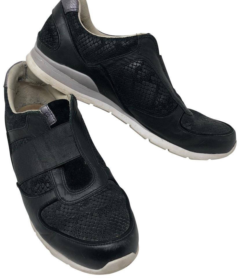 89b01040acc UGG Australia Black Annetta Leather Trainers Sneakers Size US 11 Regular  (M, B) 58% off retail