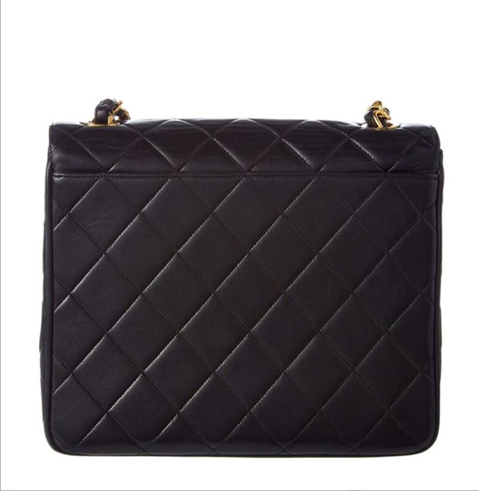 44467da9022a Chanel Classic Vintage Quilted Medium Single Flap Black Lambskin ...