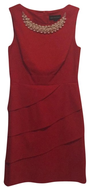 Preload https://img-static.tradesy.com/item/23243933/connected-apparel-red-mid-length-cocktail-dress-size-10-m-0-1-650-650.jpg