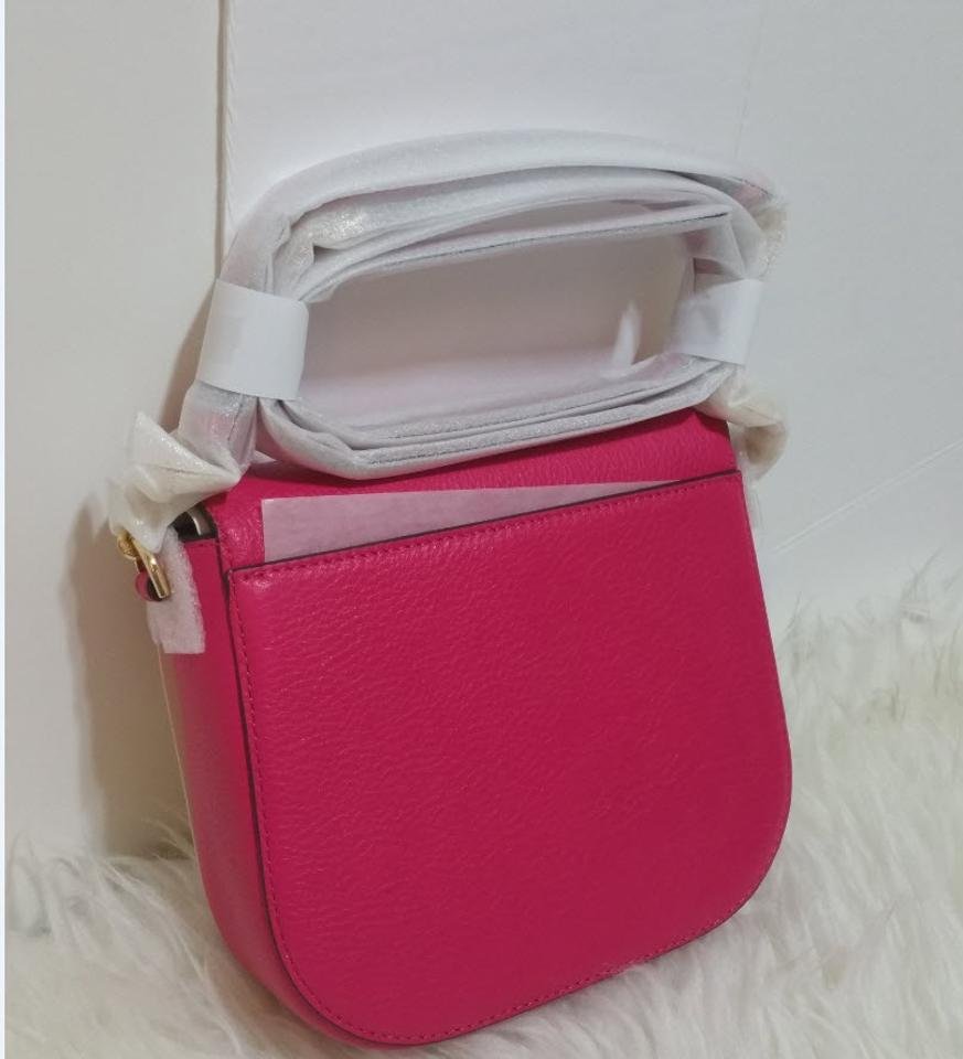 6fd4a3cdc1df Michael Kors Leather Satchel Dusty Rose 35f7gbdt1l Tote in ultra pink Image  10. 1234567891011