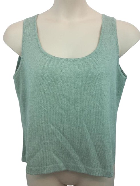 Preload https://img-static.tradesy.com/item/23244228/st-john-seagrass-green-sleeveless-knit-blouse-l-tank-topcami-size-12-l-0-1-650-650.jpg