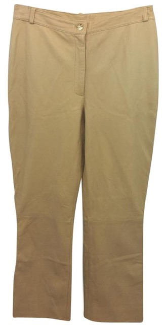 Item - Fawn Brown Couture Leather Pants Size 10 (M, 31)