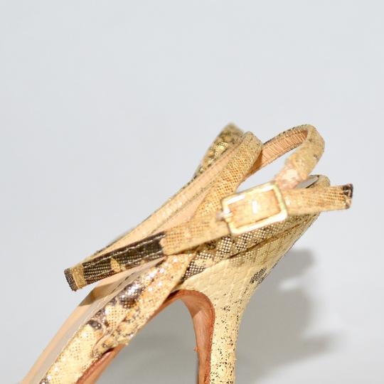Kate Spade Gold/Tan Pumps