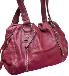 Isaac Mizrahi Leather Handbag Nwot New Dustbag Satchel in Red