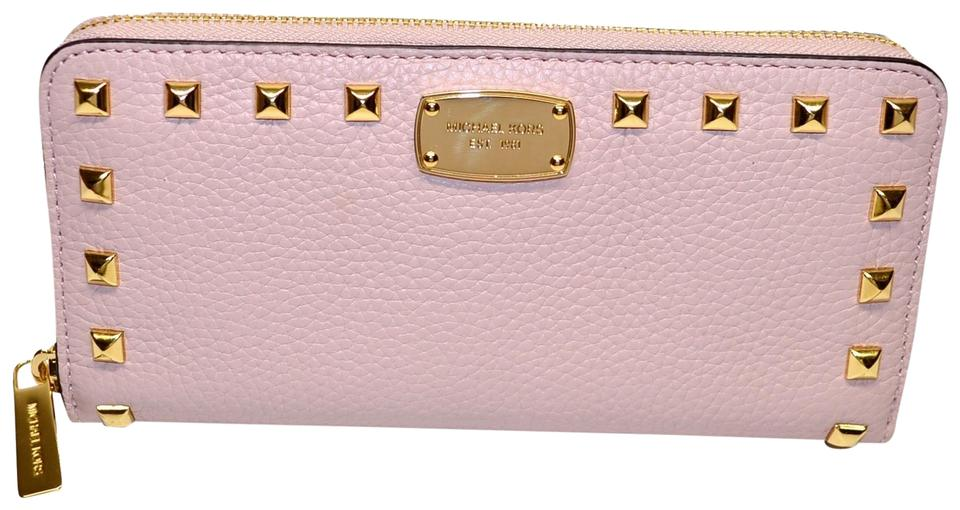 9eeb82164521 Michael Kors Blossom Jet Set Studded Leather Za Continental Wallet ...