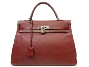 Hermès Birkin Hac Evelyne Evelyn Classic Flap Satchel in Rouge Ash