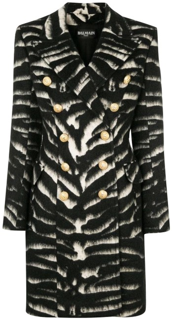 Preload https://img-static.tradesy.com/item/23244354/balmain-black-zebra-print-overcoat-gold-buttons-38-pea-coat-size-6-s-0-2-650-650.jpg