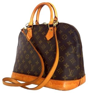 Louis Vuitton Alma Bb Damier Alma Bandouliere Speedy Favorite Eva Satchel in Brown