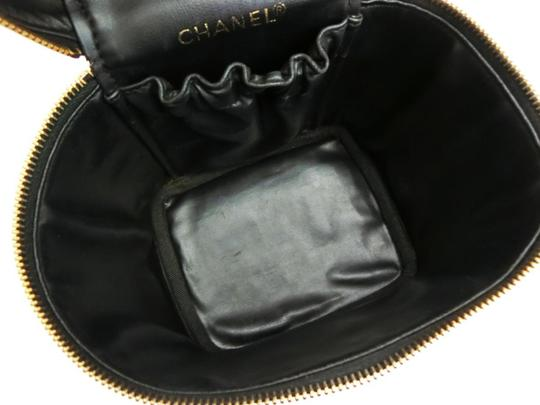 Chanel Vanity Cosmetic Make Up Box Case Tote in Black