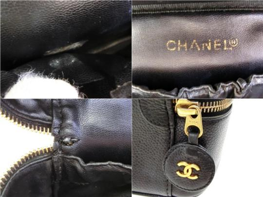 Chanel Travel Vanity Make Up Box Case Satchel in Black