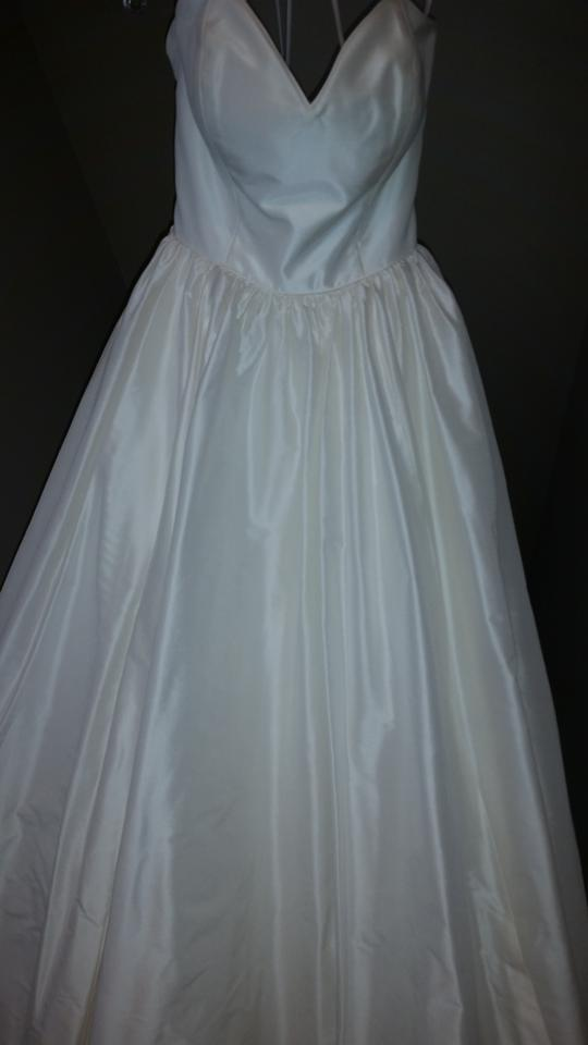 Justin Alexander Natural Silk Dupont Sweetheart Bodice Ball Gown ...