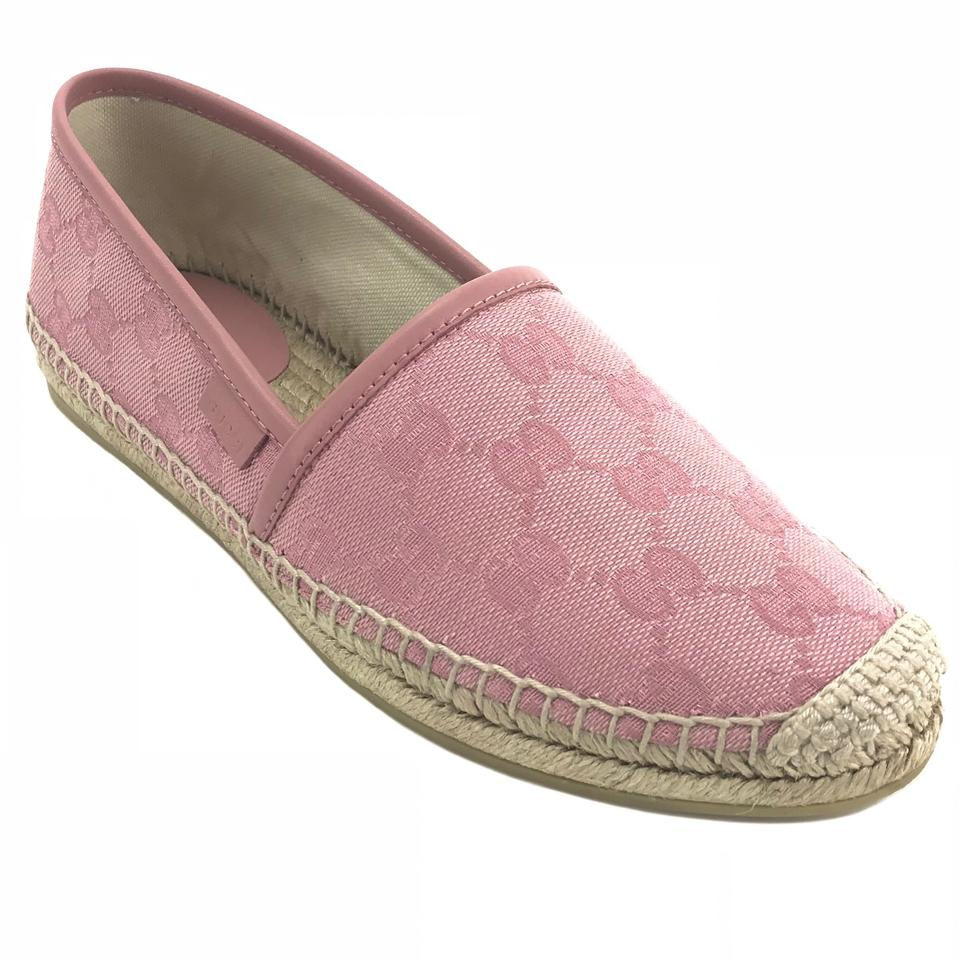b665670ce79 Gucci Pink 466902 Women s Gg Guccissima Canvas Leather Slip-on ...