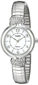 Timex Silver Stainless Steel Elevated Classics Anna TW2P61100 Watch
