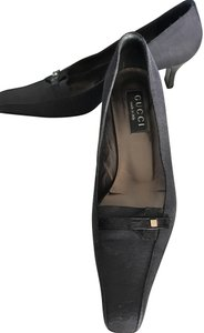 Gucci Canvas Vintage Dark Grey Pumps