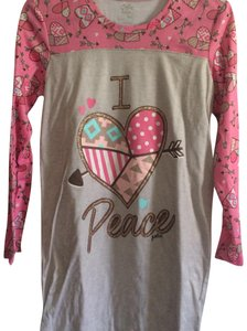 Justice Top grey and pink
