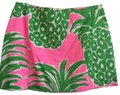 Lilly Pulitzer Pineapple Summer Mini Skirt Green Pink