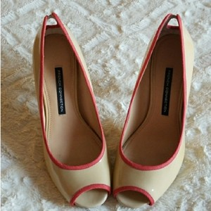 French Connection Nude, coral Pumps