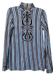 Tory Burch New Appliqued Embroidered Oversized Tunic