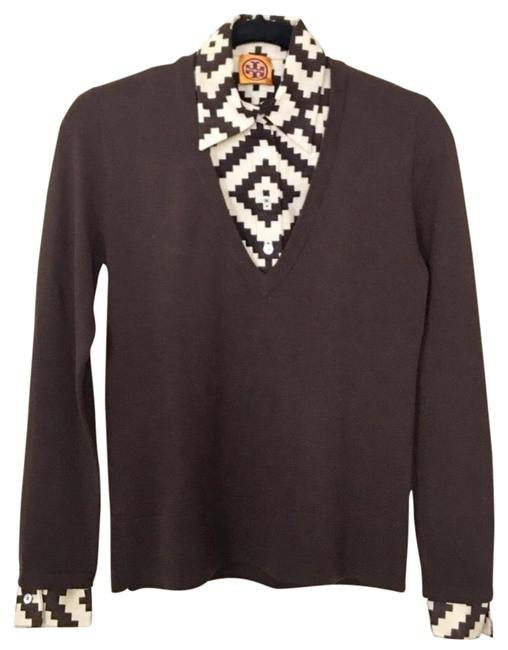 Item - Removable Inserts Brown Ecru Sweater