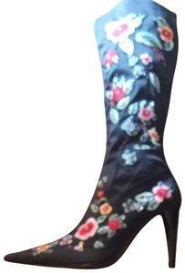 Details Embroidered Embellished Country Wedding black/multi Boots
