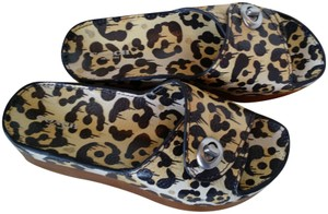 Coach Wild Beast Leather Limited Edition Natural/Leopard Sandals