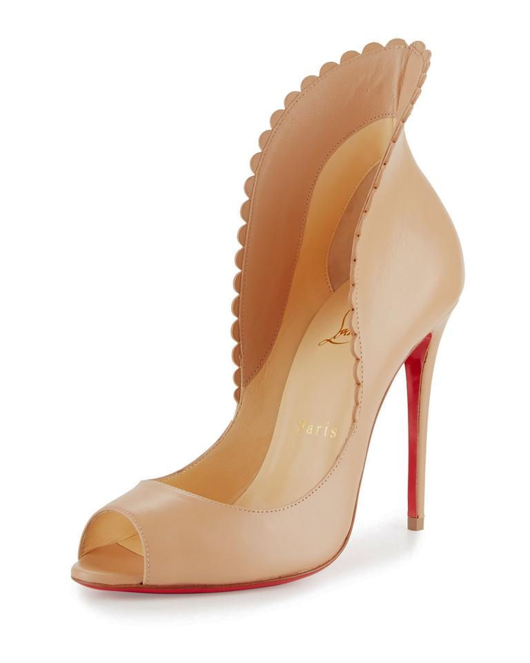 861ac69eb0 Christian Louboutin Made In Italy Luxury Designer Red Sole Kidskin Beige ( Nude) Pumps Image ...