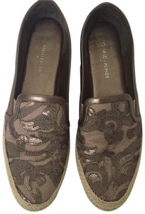 Donald J. Pliner Sneaker Espadrille Leather Canvas Sequin metallic Flats