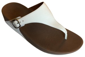 FitFlop white and tan Sandals
