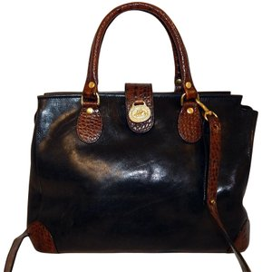 Brahmin Tuscan Crossbody Satchel in Black