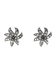 John Hardy John Hardy 925 Dot Ayu Jasmine Flower earrings with omega backs.