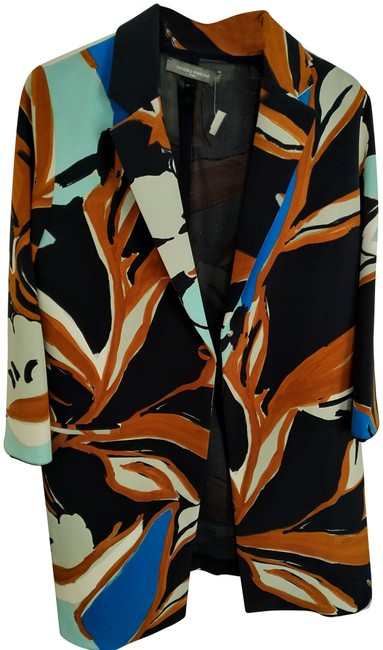 Item - Multiple L Roma Polyester Multicolor Midlength Coat Size 12 (L)