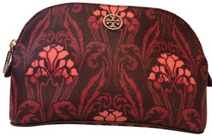 Tory Burch red, gold Clutch