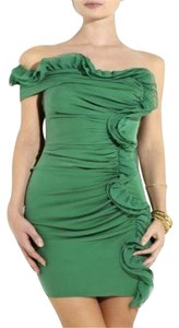 Catherine Malandrino short dress Green Off Shoulder Asymmetric Ruffle on Tradesy