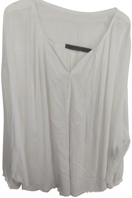 Item - White M Oversized Rayon Draped Blouse Size 10 (M)