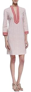 Tory Burch short dress Coral, Cream Tunic Cotton Cover Up Top on Tradesy