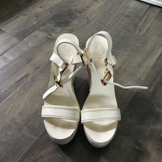 Tory Burch cream Wedges Image 1