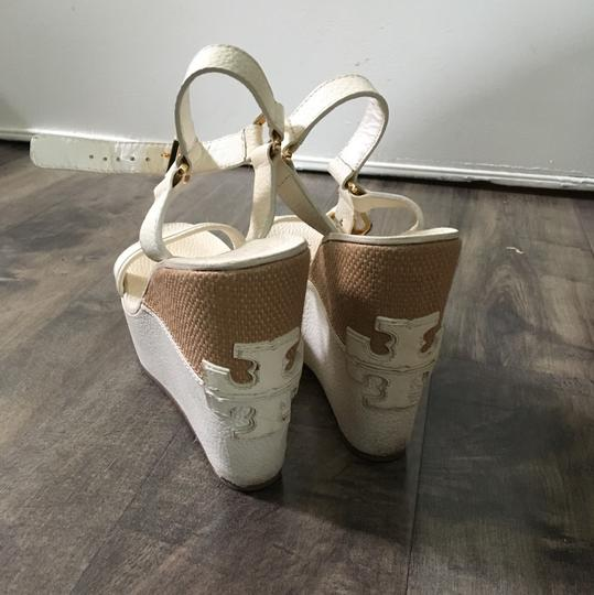 Tory Burch cream Wedges Image 3