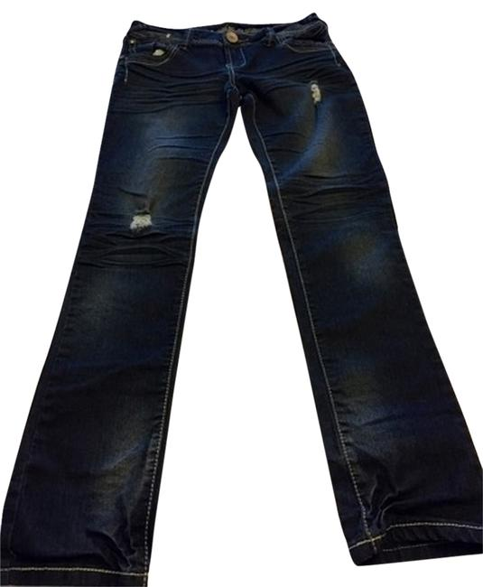 Almost Famous Clothing Straight Leg Jeans-Medium Wash