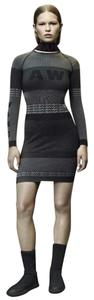 Alexander Wang short dress Grey/Black Aw Bodycon Stretch Bandage on Tradesy