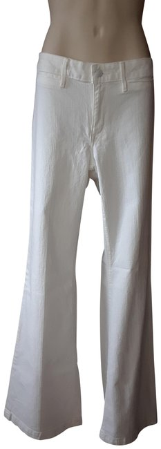 Item - White Light Wash Denim Trouser/Wide Leg Jeans Size 32 (8, M)