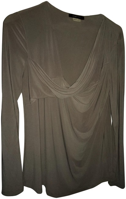Item - Gray Polyester with Stretch Long Sleeve Tunic Size 16 (XL, Plus 0x)