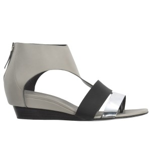 Vic Matié Leather Strappy Color-blocking Ankle Strap Wedges