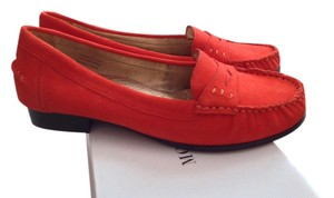 Modern Vice Suede Monaco Loafer Casual Burnt Orange Flats