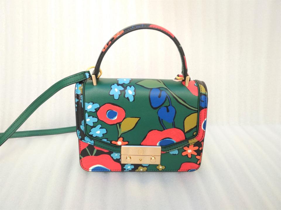 e8ab947856e Tory Burch Juliette Printed Darling Floral Mini Top Handle Leather Satchel  - Tradesy