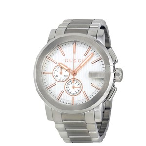 ae3243c64c5 Gucci Swiss Made G-Chrono Chronograph Silver Dial Men s Dress Watch