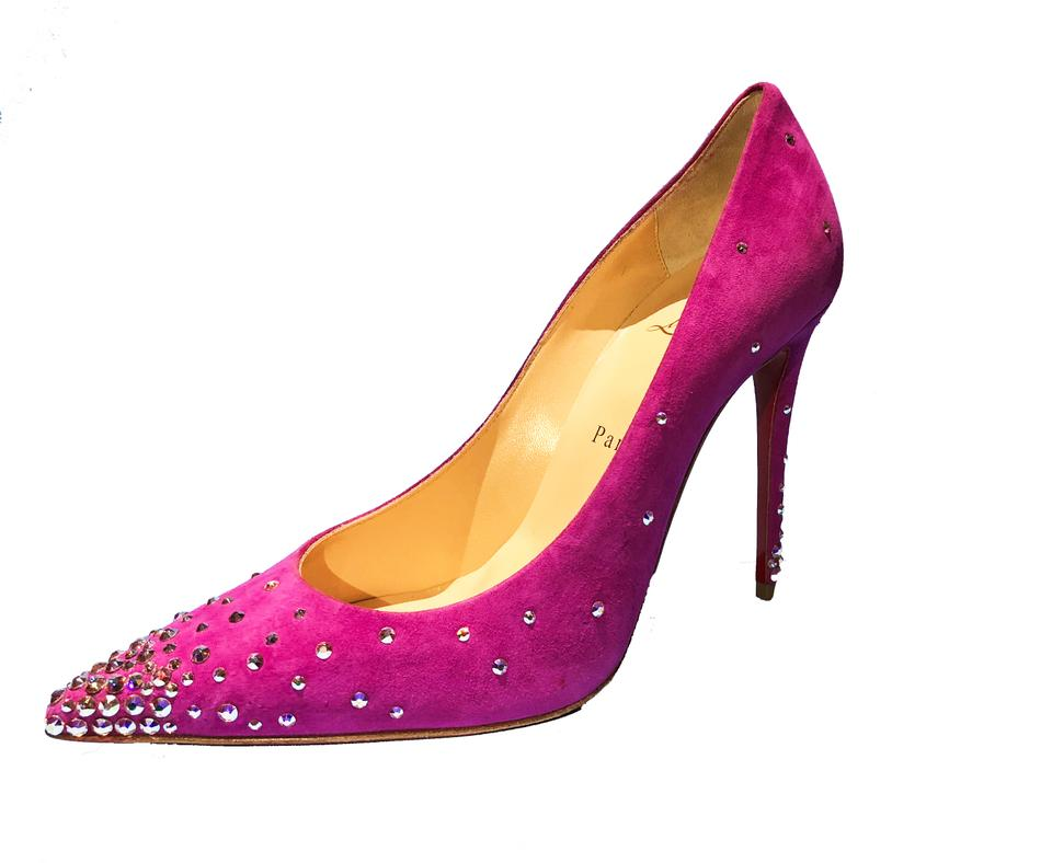 Christian Louboutin 100mm Indian Rose Degrastrass Suede Swarovski Crystals 100mm Louboutin Red Sole Pumps cc946d