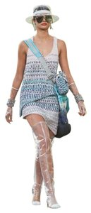Chanel Tweed Boucle Mini Skirt Blue, Pink & Silver